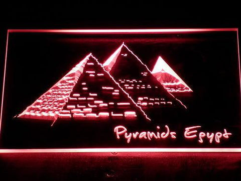 Image of Egypt Pyramids LED Neon Sign - Red - SafeSpecial