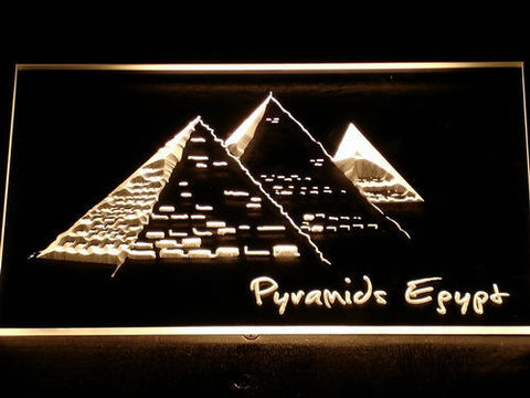 Image of Egypt Pyramids LED Neon Sign - Yellow - SafeSpecial