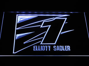 Elliott Sadler 1 LED Neon Sign - White - SafeSpecial