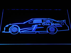 Elliott Sadler Race Car LED Neon Sign - Blue - SafeSpecial