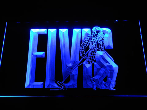 Image of Elvis Presley LED Neon Sign - Blue - SafeSpecial