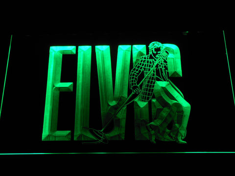 Image of Elvis Presley LED Neon Sign - Green - SafeSpecial