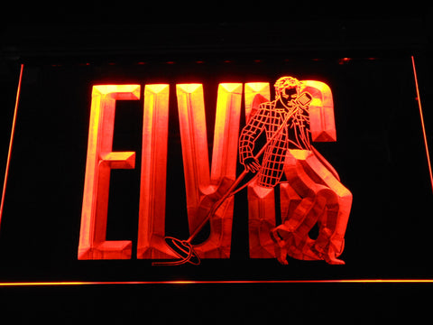 Image of Elvis Presley LED Neon Sign - Orange - SafeSpecial