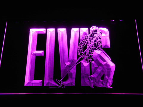 Image of Elvis Presley LED Neon Sign - Purple - SafeSpecial