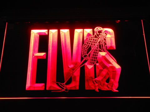 Image of Elvis Presley LED Neon Sign - Red - SafeSpecial