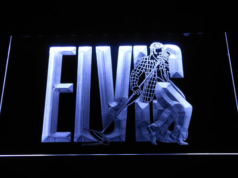 Image of Elvis Presley LED Neon Sign - White - SafeSpecial