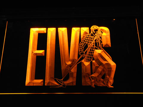 Image of Elvis Presley LED Neon Sign - Yellow - SafeSpecial