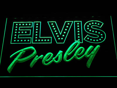 Elvis Presley Old School LED Neon Sign - Green - SafeSpecial