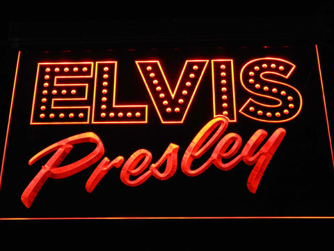 Image of Elvis Presley Old School LED Neon Sign - Orange - SafeSpecial