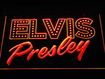 Elvis Presley Old School LED Neon Sign - Orange - SafeSpecial
