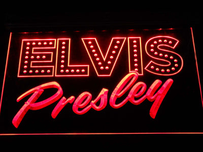 Elvis Presley Old School LED Neon Sign - Red - SafeSpecial