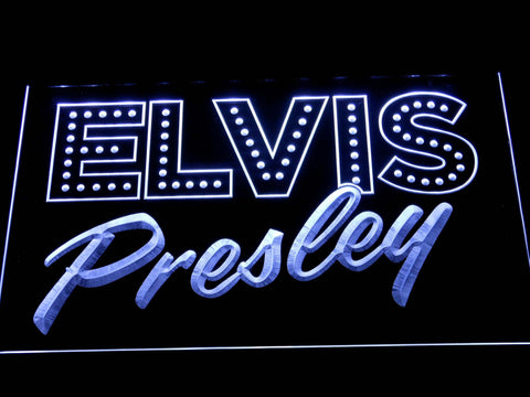 Image of Elvis Presley Old School LED Neon Sign - White - SafeSpecial