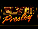 Elvis Presley Old School LED Neon Sign - Yellow - SafeSpecial