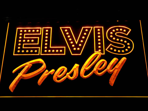 Image of Elvis Presley Old School LED Neon Sign - Yellow - SafeSpecial