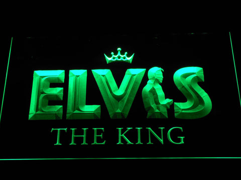 Image of Elvis Presley The King LED Neon Sign - Green - SafeSpecial