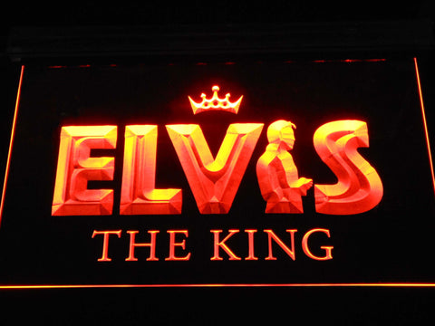 Image of Elvis Presley The King LED Neon Sign - Orange - SafeSpecial