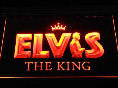 Elvis Presley The King LED Neon Sign - Orange - SafeSpecial