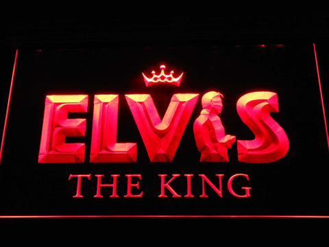 Image of Elvis Presley The King LED Neon Sign - Red - SafeSpecial
