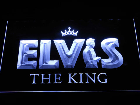 Image of Elvis Presley The King LED Neon Sign - White - SafeSpecial