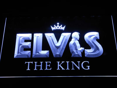 Elvis Presley The King LED Neon Sign - White - SafeSpecial