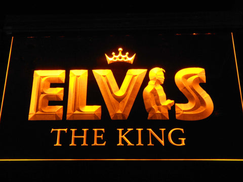 Image of Elvis Presley The King LED Neon Sign - Yellow - SafeSpecial