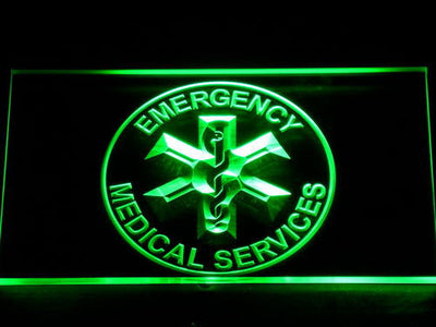 Emergency Medical Services LED Neon Sign - Green - SafeSpecial