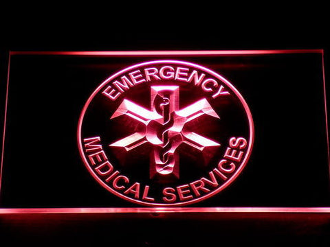Image of Emergency Medical Services LED Neon Sign - Red - SafeSpecial