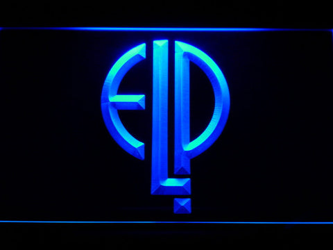 Emerson, Lake & Palmer LED Neon Sign - Blue - SafeSpecial