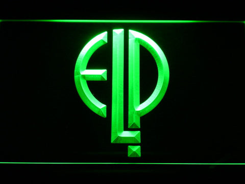Emerson, Lake & Palmer LED Neon Sign - Green - SafeSpecial