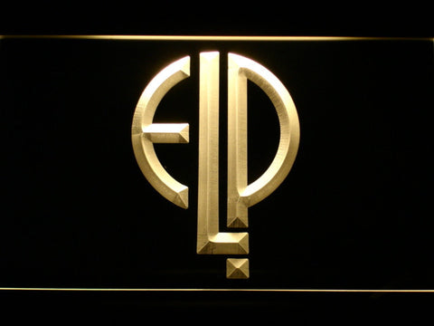 Emerson, Lake & Palmer LED Neon Sign - Yellow - SafeSpecial