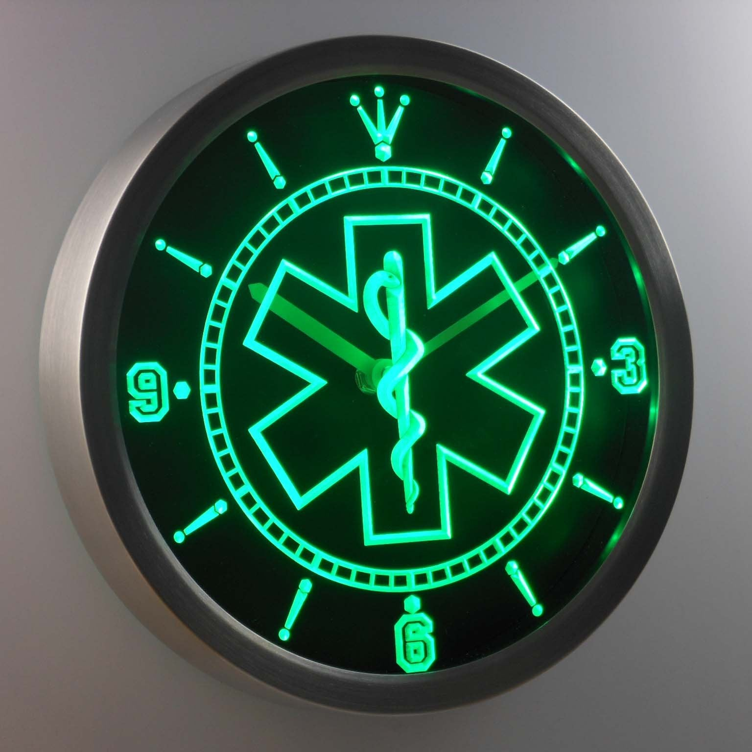 Ems Star Of Life Led Neon Wall Clock Safespecial