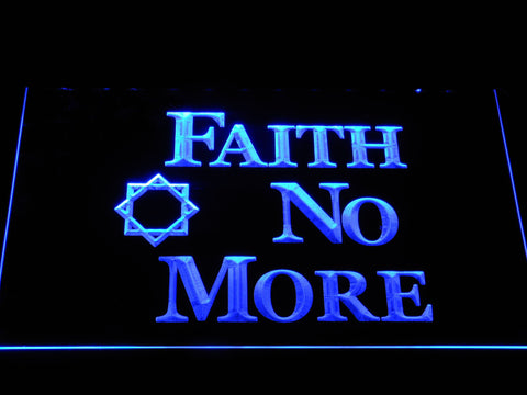 Faith No More LED Neon Sign - Blue - SafeSpecial