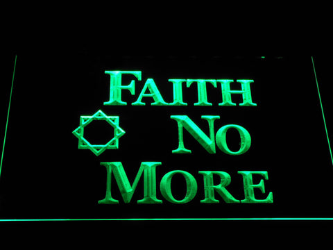 Faith No More LED Neon Sign - Green - SafeSpecial
