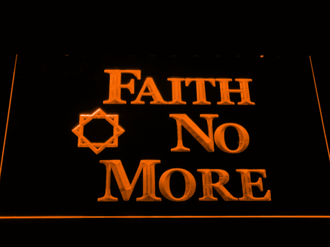 Image of Faith No More LED Neon Sign - Orange - SafeSpecial