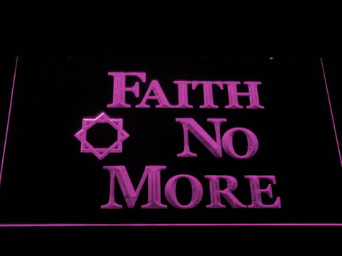 Image of Faith No More LED Neon Sign - Purple - SafeSpecial