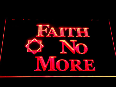 Image of Faith No More LED Neon Sign - Red - SafeSpecial