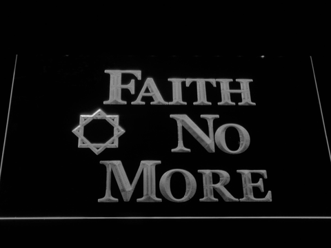 Faith No More LED Neon Sign - White - SafeSpecial