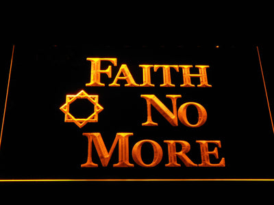 Faith No More LED Neon Sign - Yellow - SafeSpecial