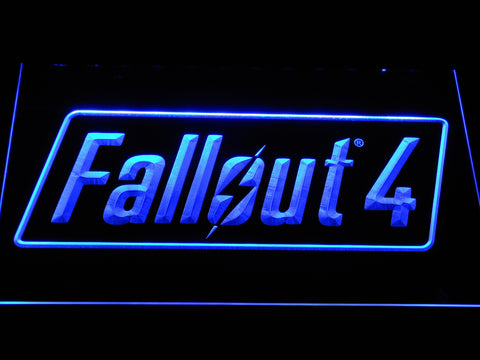 Image of Fallout 4 LED Neon Sign - Blue - SafeSpecial