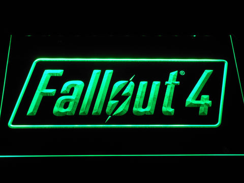 Image of Fallout 4 LED Neon Sign - Green - SafeSpecial