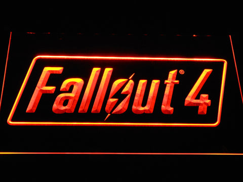 Image of Fallout 4 LED Neon Sign - Orange - SafeSpecial
