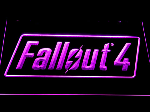 Image of Fallout 4 LED Neon Sign - Purple - SafeSpecial