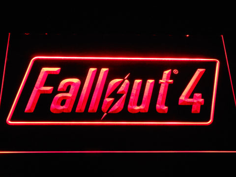 Image of Fallout 4 LED Neon Sign - Red - SafeSpecial