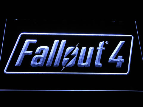 Image of Fallout 4 LED Neon Sign - White - SafeSpecial