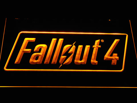 Image of Fallout 4 LED Neon Sign - Yellow - SafeSpecial