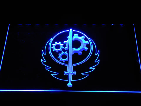 Image of Fallout Brotherhood of Steel LED Neon Sign - Blue - SafeSpecial