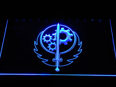 Fallout Brotherhood of Steel LED Neon Sign - Blue - SafeSpecial