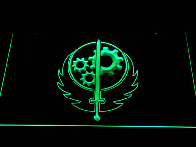 Fallout Brotherhood of Steel LED Neon Sign - Green - SafeSpecial