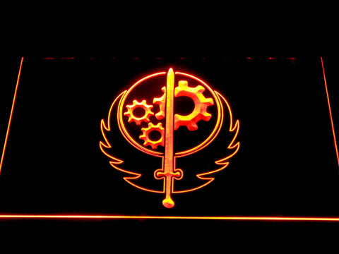 Image of Fallout Brotherhood of Steel LED Neon Sign - Orange - SafeSpecial