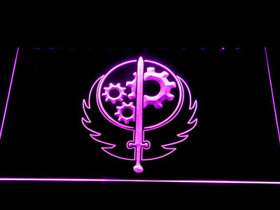Fallout Brotherhood of Steel LED Neon Sign - Purple - SafeSpecial
